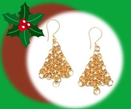 RTJ-126 Golden Christmas Earrings