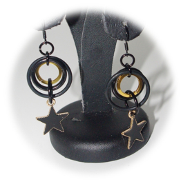 Insp. 127 Earrings Black&Gold