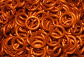 aluminium oranje 1.6x6.6mm. (machinaal) NIEUWE KLEUR