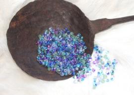 MM-mix03 magatamas drops 4mm. mix water lilies
