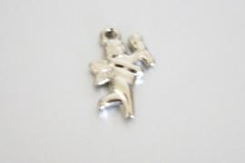 BL011 zilverkl. engel met fakkel 21x14mm.