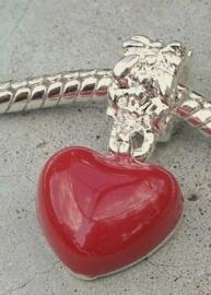 EB0012A Bedel rood hartje met schroefdraad.