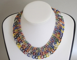 "Inspiratie 039 Chainmail collier ""Flexi"""