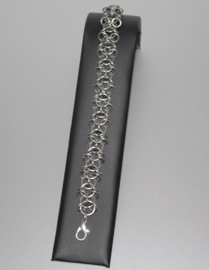 SA-023 Chainmail R.V.S. armband Celtic (unisex) met zilverkl. karabijn