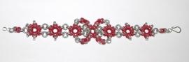 Inspiratie 037 Bloemenarmband in rubber en glanzend aluminium