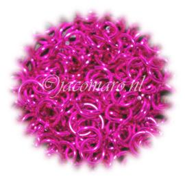 aluminium bubble gum pink 1.6x6.6mm. (gezaagd)