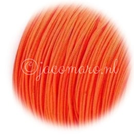 OND676 imitatie zijde koord 0.8mm. dark orange 10 mtr.