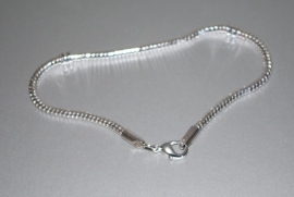 EB85455C Sterling silver plated Basis-Armband  met 2 stops-22.5cm.