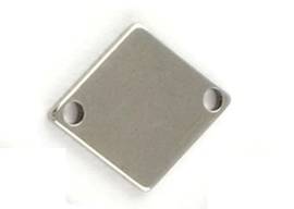 OND608 connector rhombus stainless steel  bol 14x11x1mm. p.s.