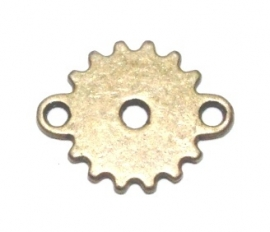 OND545 steampunk connector ant. bronze 19x15mm.