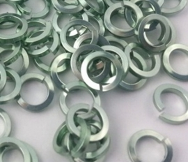 aluminium vierkante draad Seafoam 1.2x4.2mm. (gezaagd)