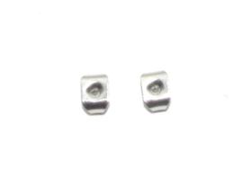 OND799 304 stainless steel oorbelvleugeltjes  5x4.5x3mm. 5 paar