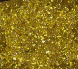 MM-6 magatamas drops 4mm. Silver Lined Yellow