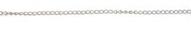 OND546 Jasseron 304 stainless steel curb link (niet gelast) 50cm. 5.5x3.5x0.75mm.