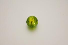 GK003 handgem. glaskraal groen 15mm.