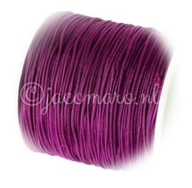 OND668 imitatie zijde koord 0.8mm. purple 10 mtr.