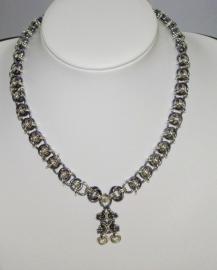 Insp.027 Chainmail set in Black Ice en mooi glanzend zilver-een perfecte combinatie.