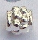 MK104 sterling verzilverde spacer dots 4x4mm.