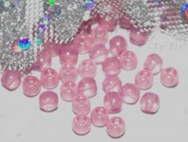 TGK047 boheems glas rond opaal amethyst 4 mm. 12 stuks