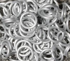 aluminium Frost 1.6x8.5mm. (gezaagd)