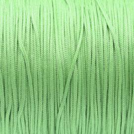 OND751 imitatie zijde koord 1.0mm.  pale green 10 mtr.