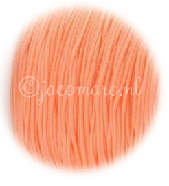 OND677 imitatie zijde koord 0.8mm. light salmon 10 mtr.