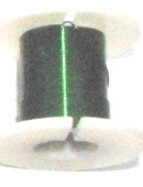 OND643  koperdraad 0.3mm.  green 2.45 mtr.