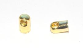OND731 eindkap in goudkleur 8x5mm. per 2 stuks