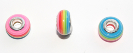 EB0389 European Rondelle Bead rainbow 14x8-8.5mm.