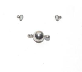 OND606 magnetische bol sluiting stainless steel 12x5.5mm.