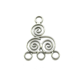 OND627 925 sterling silver chandelier/connector 19x16x1mm.
