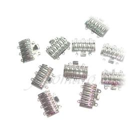 OND441A  box schuifslot platina bewerkt 16x10x4mm. 3-rijen 10st.
