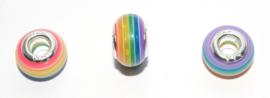 EB0399 European Rondelle Bead rainbow 14x8-8.5mm.