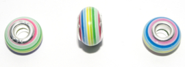 EB0398 European Rondelle Bead rainbow 14x8-8.5mm.