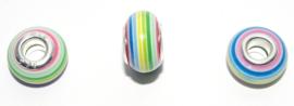 EB0398 European Rondelle Bead rainbow 14x8-8.5mm.