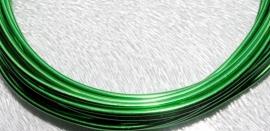WAC86 Aluminium draad Green plated 2.0mm. +/- 6mtr.