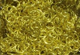 aluminium geel 1.0x5.0mm. (gezaagd) 250st.