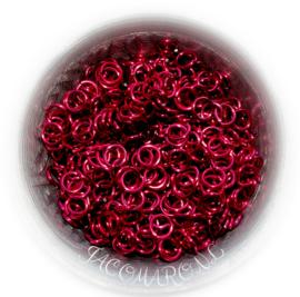 aluminium donker roze 1.2x5.0mm. NK (gezaagd)