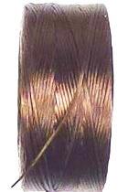 OND664 S-lon rijgdraad 0.09mm. Dark  Brown  70mtr.