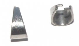OND564 bail pendant 304 stainless steel 13x7mm.