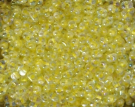 BBM-0273 berry bead  Light Yellow Lined Crystal AB 4.5x2.5mm.