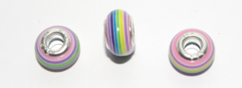 EB0394 European Rondelle Bead rainbow 14x8-8.5mm.