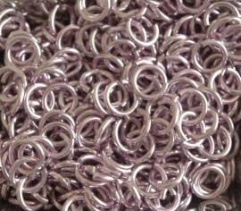 aluminium roze 1.0x4.0mm. (gezaagd)