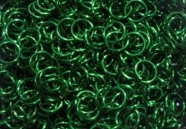 aluminium groen 0.8x3.4mm. (gezaagd)