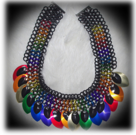 Insp.124 Colorful Rainbow Collier 45cm.