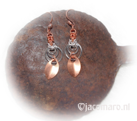 RTJ-134 Oorhangers Circle in Silver/Copper