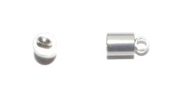 OND649 stainless steel koord eindkap 9x5mm. per 2 stuks