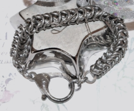 SA-017 Chainmail armband in R.V.S. unisex