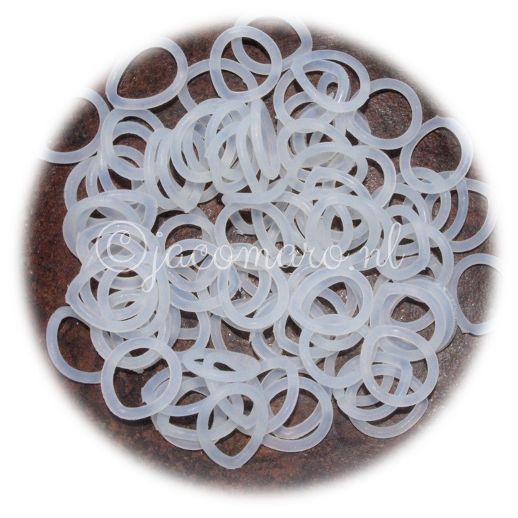 Rubber ring 2.0x12.0mm. (O.D. 16.0mm.) wit transp. 50st.