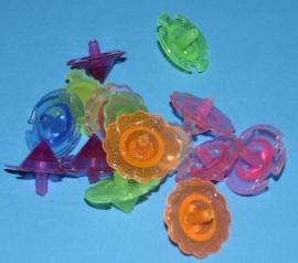 Inhoud kist B1  Plastic kleine tolletjes  15x